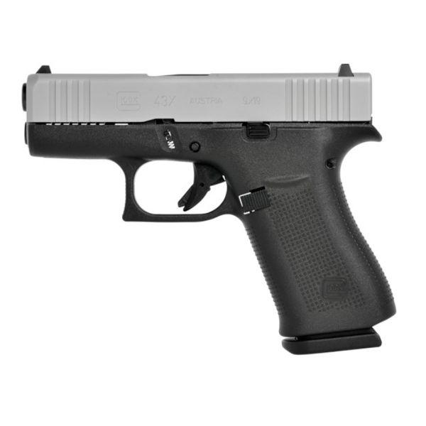 Glock 43X FS Silver Slide 9mm Luger