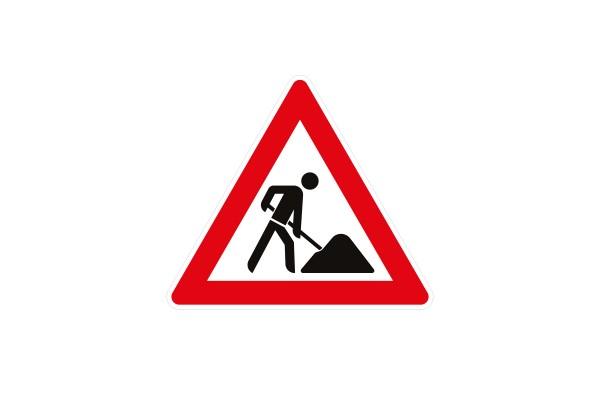 Verkehrszeichen-Baustelle